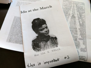 cover of ida at the march zine